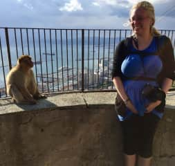 Me and one of the monkeys of Gibraltar