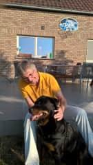 "Werner with dog ""Tina"" in Belgium"