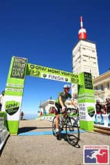 Mont Ventoux Race, me crossing the finish line