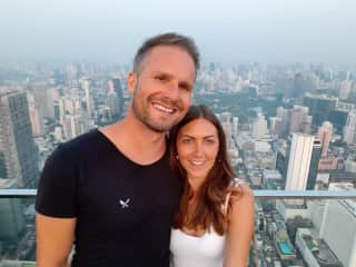 Us travelling in Thailand