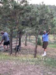 Chip & Chris with Dulce in Colorado