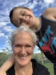 Dog Park with my Grandson.