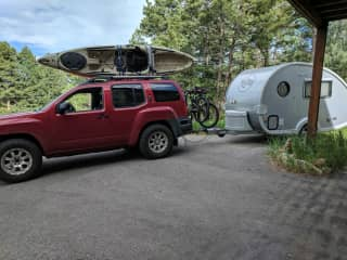 Our rig when we head out exploring