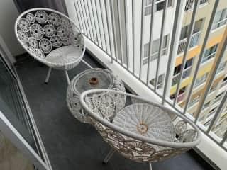 Small balcony area