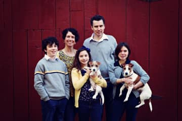 Weston Family with Lucy and Sammy