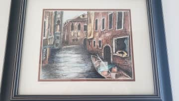 Gino in Venice beautifully memorialized by an artist friend.