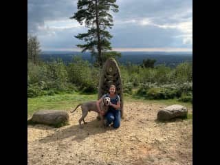 Me and Bailey atop Leith Hill.