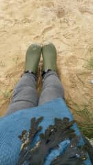 On a beach in Normandy
