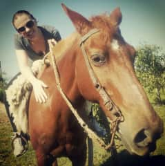 Tostada is Josi's family horse. Sometimes, Ana visits and rides her too