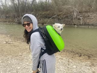 Hiking with Yoda