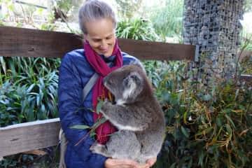 Long before bush-fires, I held a koala baby. (Adelaide)