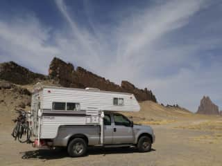 We love exploring the country in our truck and camper (22feet total length, 10.2 feet high)