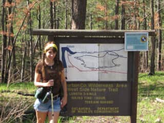 Karen at the trail head.