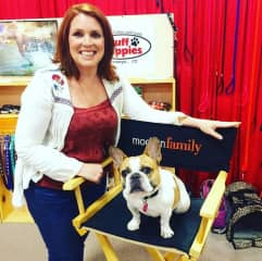 With Stella from Modern Family at Superzoo in Las Vegas