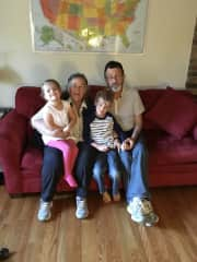 John and I with our grandkids October 2016