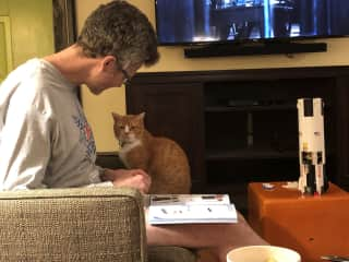 Greg and our cat Francie