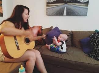 Jam sesh with my niece, Elena :)