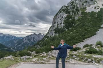 Me hamming it up a bit in the mountains of Slovenia in 2016