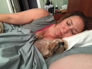 Fara and Charlie Puppy snoozing away