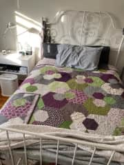 My mom made the quilt!