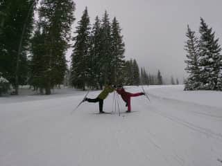 A little X-country skiing