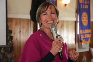 Me speaking at my Rotary Club (Healdsburg, CA) about the Amigos de Guatemala project