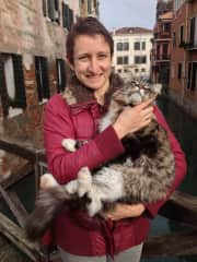 Found a sweet kitty on a trip to Venice.