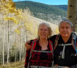 Tom and Marcy in the mountains near our home late fall