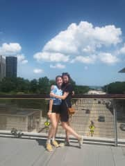 In Chicago with my little sis (I have 3 sisters and 2 brothers in total)