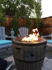 Fire pit area.