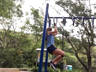Ashley doing training on the Peak, HK