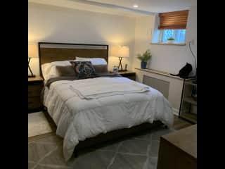 Basement guest room.