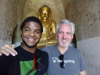 At a temple in Bagan, Myanmar