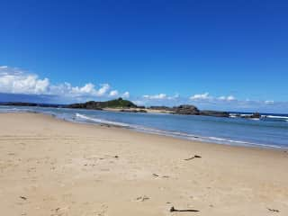 The island at Sawtell