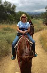 Myself and a horse at Ojai