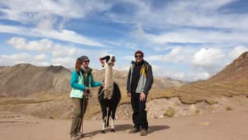 Anne (my girlfriend), Josué (the lama), Jörg (that's me)