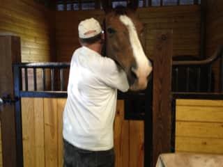 Arlen and Sierra. Such a loving horse.