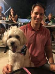 Date night while dog sitting!