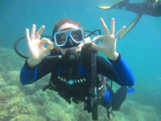 And my favourite activity is scuba diving, mostly because I get to look at all the underwater life. Especially turtles and cuddlefish <3