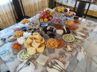 We also like eating! A feast in Kyrgystan