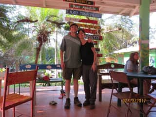 Hubby and I at Animal Rescue Center in Costa Rica, where we volunteered