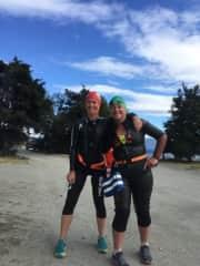 Training for Breca Wanaka with my friend Rachel