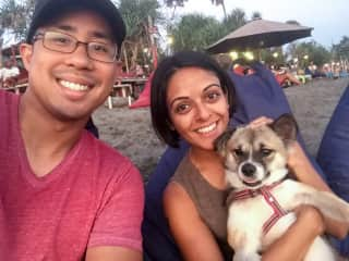 Sunset and beach time with Rex (Bali, Indonesia: Sept-17)