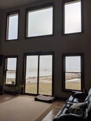 View from living room over the Sandusky Bay of Lake Erie.