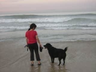 Me and a friend's wonderful lab (Morgan), sadly passed away - I wrote a sweet little book about him!
