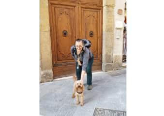 Dodi and I in San Gimignano, Italy, November 2018