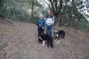 Susan & Loek and two border colliles