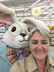 Me with the Easter Bunny!
