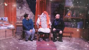 My partner, Santa Claus(!) and I