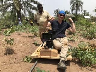 Filming in Central Africa